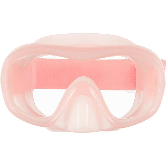 Masque de Snorkeling SNK 520 Adulte corail pâle, verre trempé.