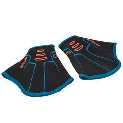 1 Paar Aquahandschuhe Neopren in Schwimmflossenform Aquagym Aquafitness schwarz