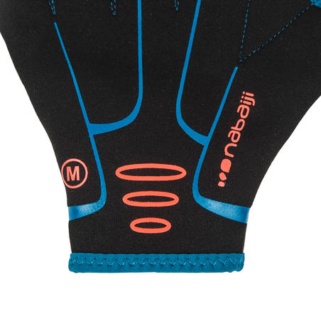 Aquafitness neoprene webbed gloves - black