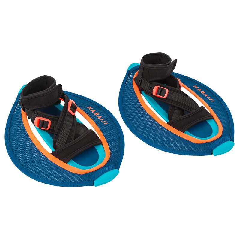 Par Pesas Pullstep Mesh Aquagym Aquafitness Azul Naranja Acuáticas