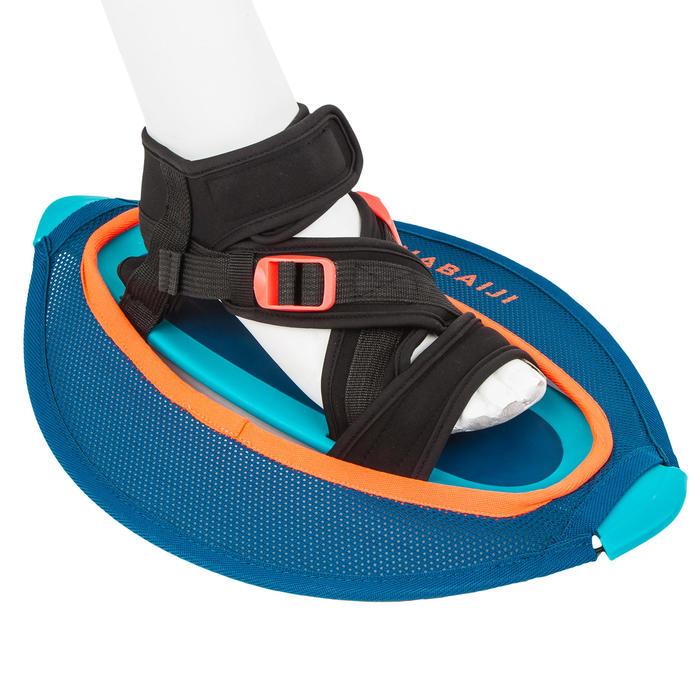 Twee halters voor aquagym of aquafitness Pullstep mesh blauw oranje