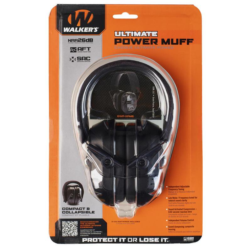 CASQUE DE PROTECTION AUDITIVE POWER MUFF WALKER'S