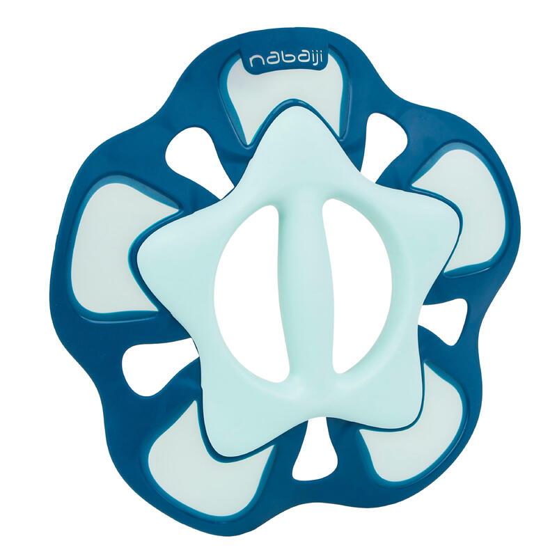 Par Pesas Pullpush S Flower Aquagym Aquafitness Verde Azul Acuáticas