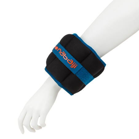 Aquafitness Weighted Wristbands - black blue. 2*0.5 KG