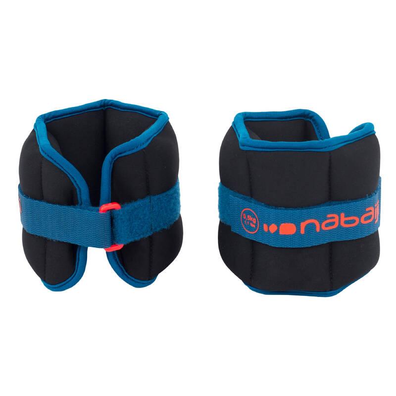 PLAVKY A VYBAVENÍ NA AQUAGYM, AQUABIKE Aqua aerobic, aqua fitness - POSILOVACÍ NÁRAMKY ČERNO-MODRÉ NABAIJI - Doplňky na aquafitness