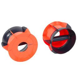 Haltères aquatiques R360 Aquafitness Aquacrosstraining bleu orange