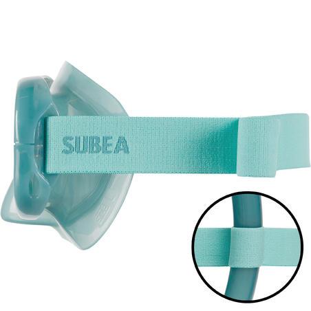 Masker dan Snorkel Kit Snorkelling Dewasa SNK 520 peacock blue