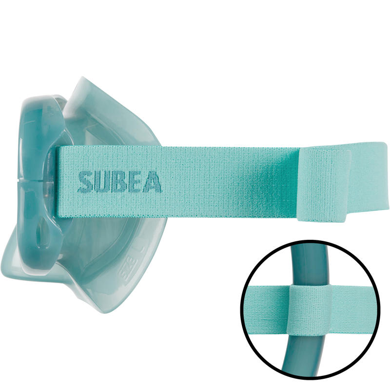 Máscara Snorkel SNK 520 Adulto Azul Pato Cristal Templado