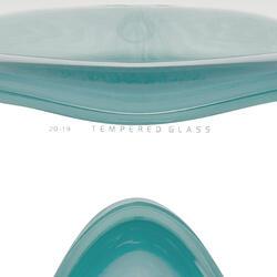 成人款浮潛呼吸管面鏡組SNK 520-孔雀藍