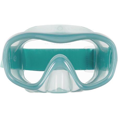 Masque  de Snorkeling SNK 520 Adulte bleu canard, verre trempé