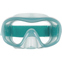 Adult Snorkelling Kit Mask and Snorkel SNK 520 peacock blue