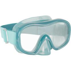 Duikbril SNK 520 voor volwassenen groen/blauw , gehard glas
