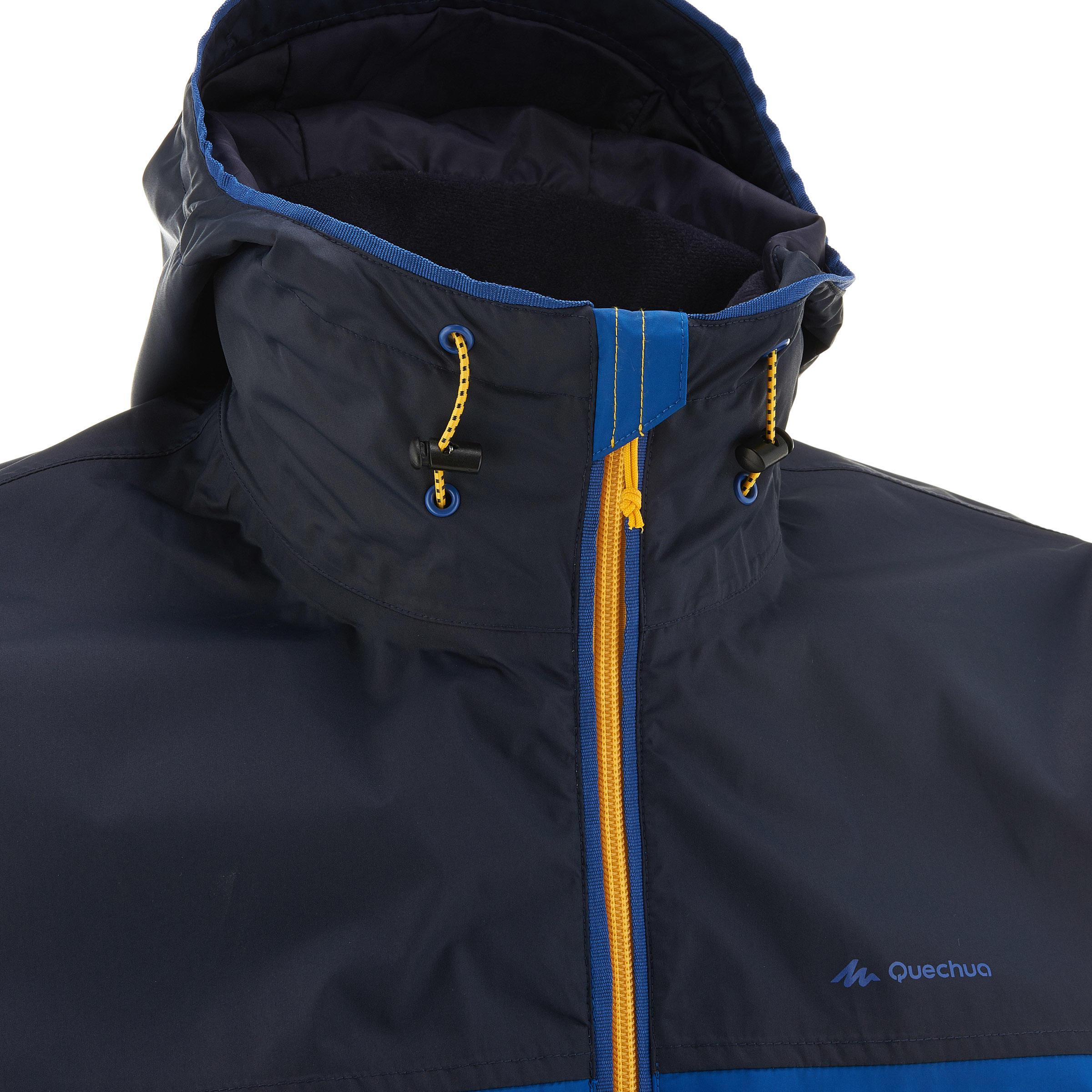 Men's waterproof Nature hiking Rain Jacket - navy blue