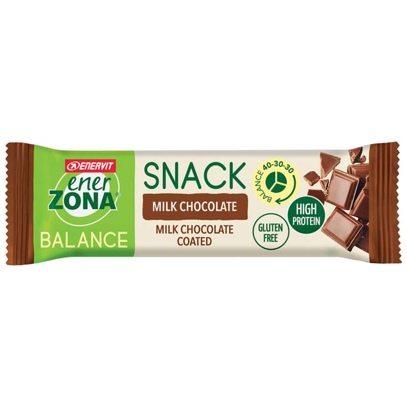 BARRETTE, GEL E RECUPERO Alimentazione - barretta snackbar milk choco ENERZONA - Alimentazione