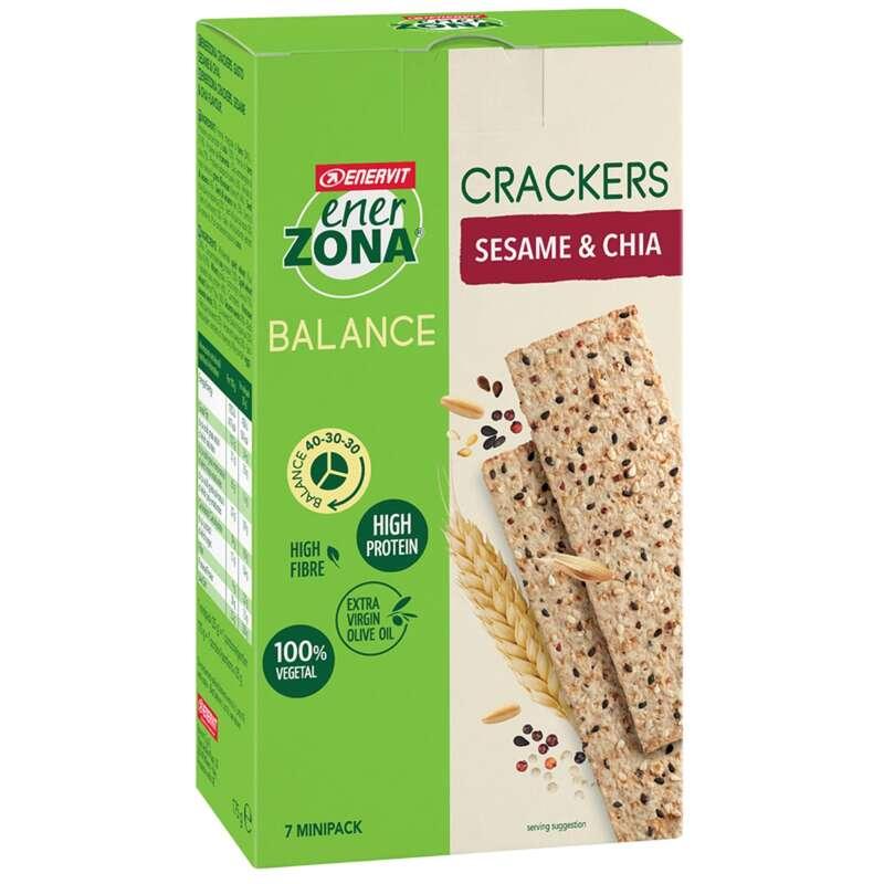 BARRETTE, GEL E RECUPERO Alimentazione - crackers sesamo chia astuccio ENERZONA - Alimentazione
