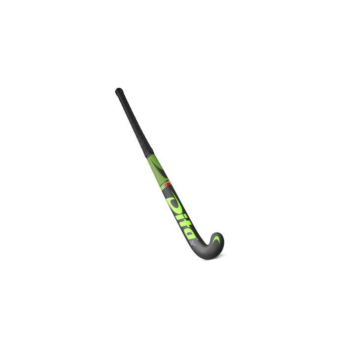 Zaalhockeystick kinderen/volwassenen 20% carbon mid bow FiberTecC20 groen