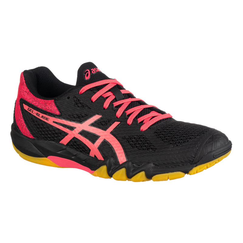 Women's Badminton/Squash/Indoor Sports Shoe Gel Blade 7 - Black/Pink