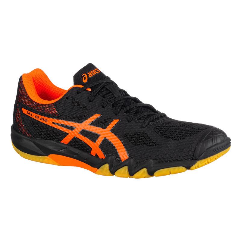 Badminton Squash Shoes Gel Blade 7 - Black/Orange