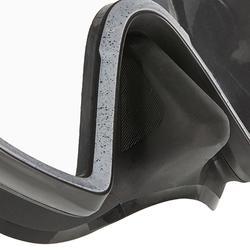 Duikbril SCD 500 met eendelige lens en zwarte mantel