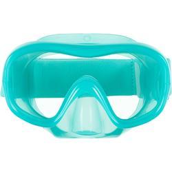 Duikbril kind SNK 520 turquoise, polycarbonaatglas