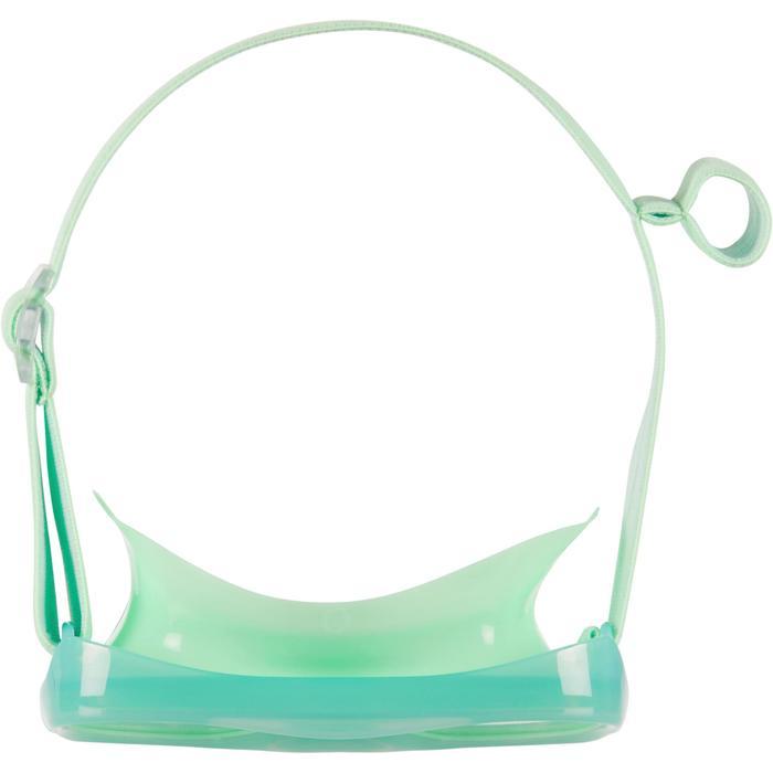 Duikbril voor snorkelen SNK 520 voor kinderen in fluogroen, polycarbonaatglas