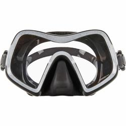 Masque de plongée sous marine SCD 500 mono-hublot verre jupe noire