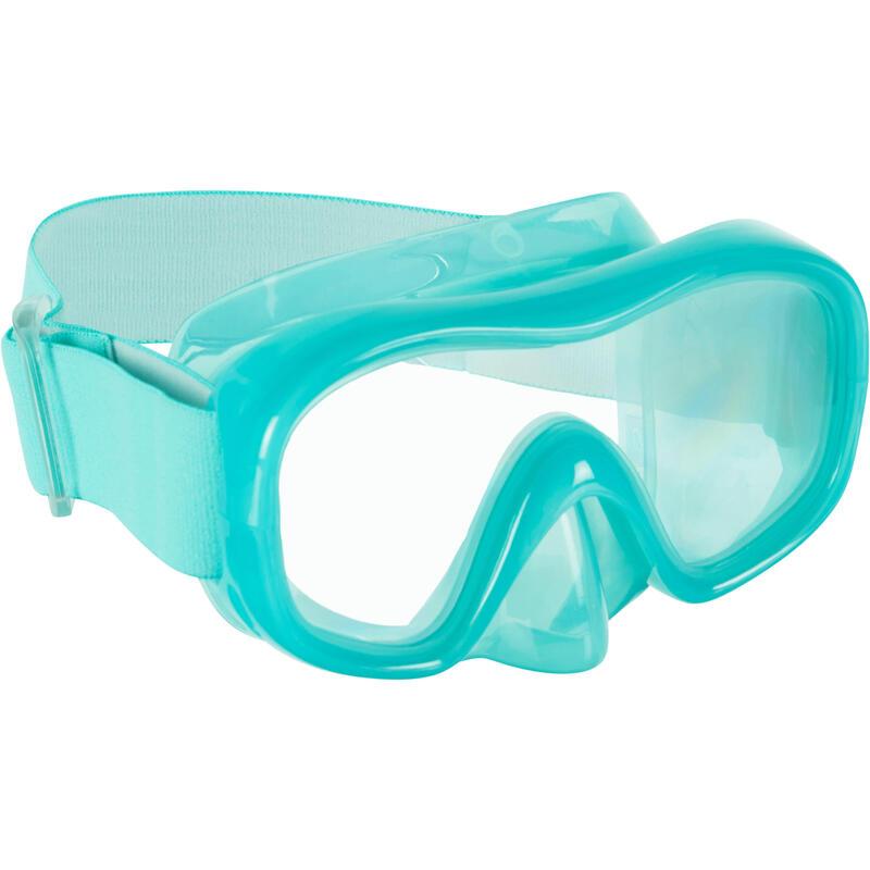 Gafa de Snorkel Subea SNK 520 Niños Turquesa Cristal Policarbonato