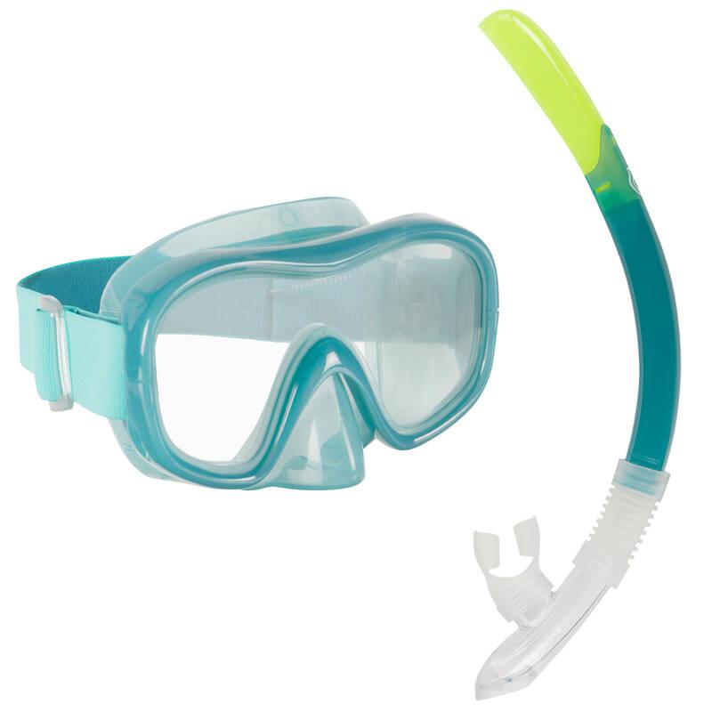MASKY, ŠNORCHLY, VYBAVENÍ NA ŠNORCHLOVÁNÍ Potápění a šnorchlování - SADA SNK 520 MODRÁ SUBEA - Šnorchlování