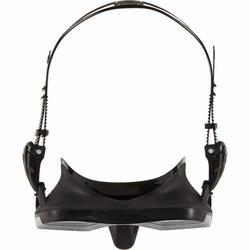 水肺潛水單面鏡SCD 500-黑色側裙