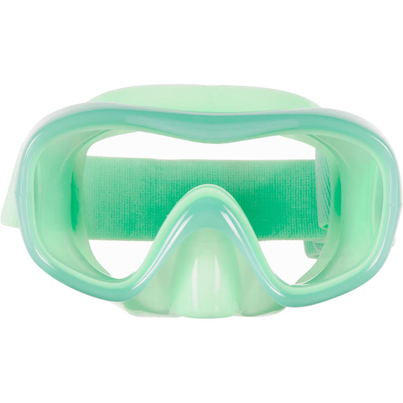 Kid's Snorkelling Polycarbonate Lens Mask SNK 520 neon green