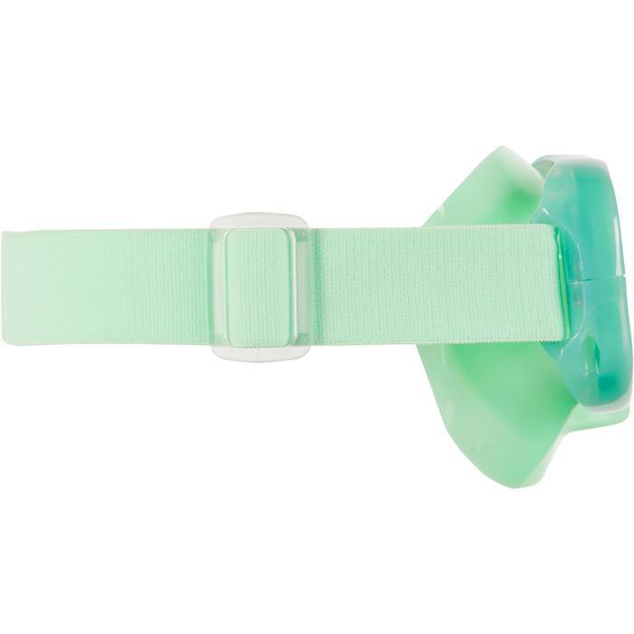 Masque de Snorkeling SNK 520 Junior vert fluo, verre polycarbonate.