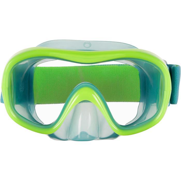 兒童款呼吸管面鏡組SNK 520-霓虹綠