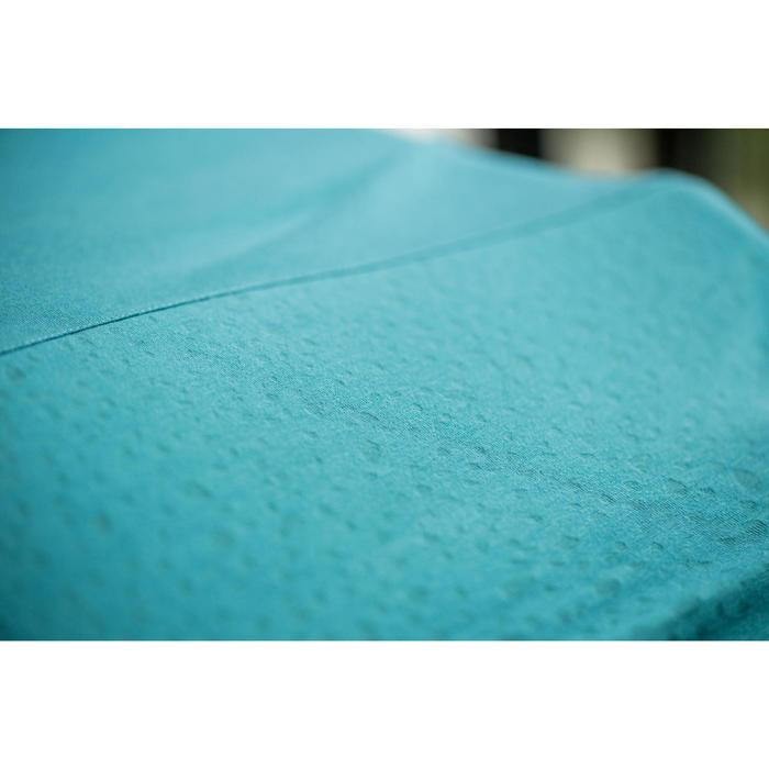 Dames T-shirt voor pilates en lichte gym 530 grijs/print