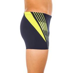 Zwemboxer Wilde marineblauw/geel