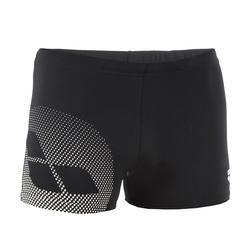 Zwemboxer voor heren zwart/wit