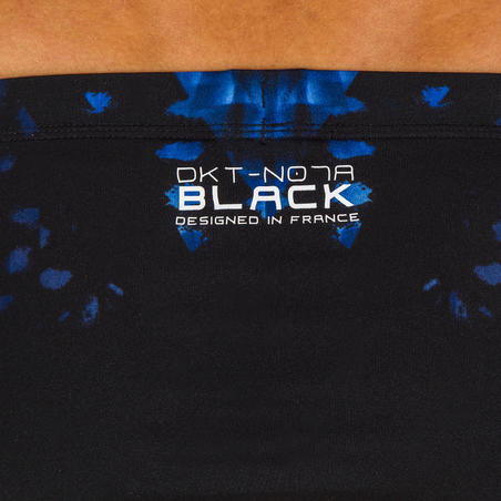 MEN'S SWIMMING TRUNKS 900 - BLACK PRINT BLACK