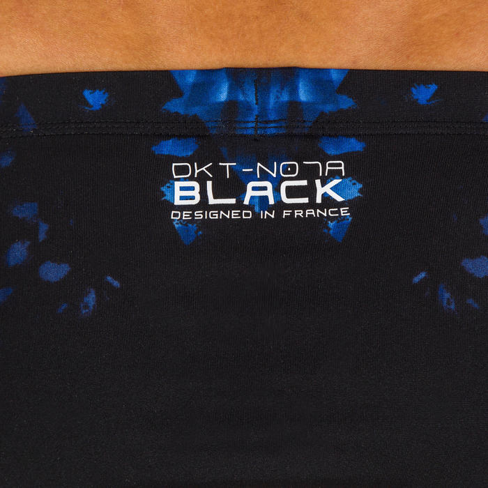 Zwemslip voor heren 900 zwart/zwarte print
