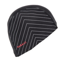 Swim cap mesh size large - printed black white