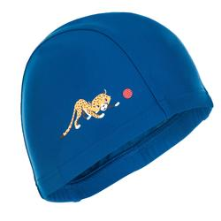 Bonnet de bain maille print taille S cheetah dark blue