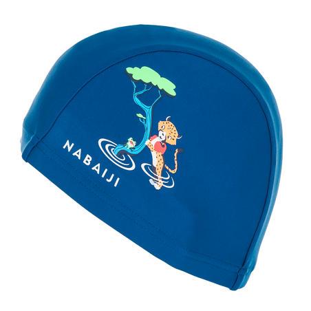 Mesh Swim Cap Print Size S cheetah dark blue