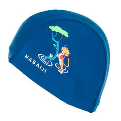 Swim cap mesh size small - printed blue Cheetah