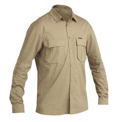 Camisa Caza Solognac Sg500 Manga Larga Ligera Caqui