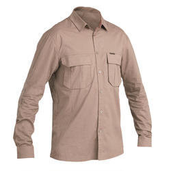 Men's Breathable Shirt 500 Brown
