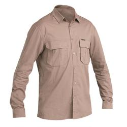Camisa Leve de Caça Manga Comprida 500 Castanho