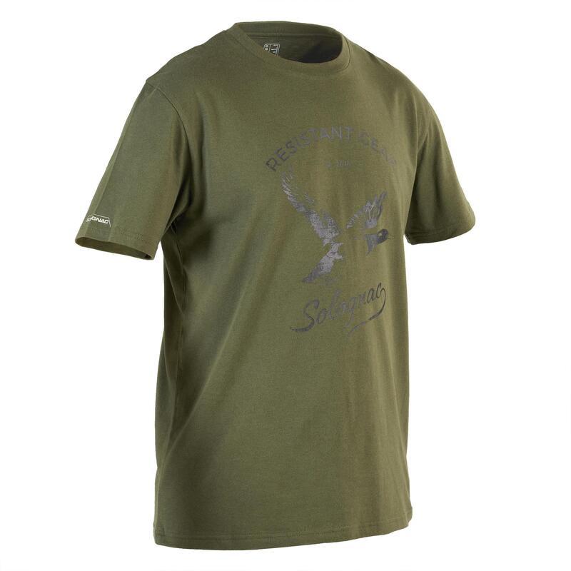 Camiseta Caza Solognac Sg 100 Hombre Manga Corta Pato