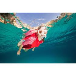 成人款浮潛呼吸管面鏡組SNK 520-珊瑚紅