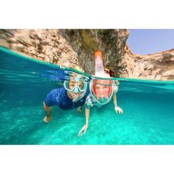 Duikbril voor snorkelen SNK 520 voor kinderen turquoise, polycarbonaatglas