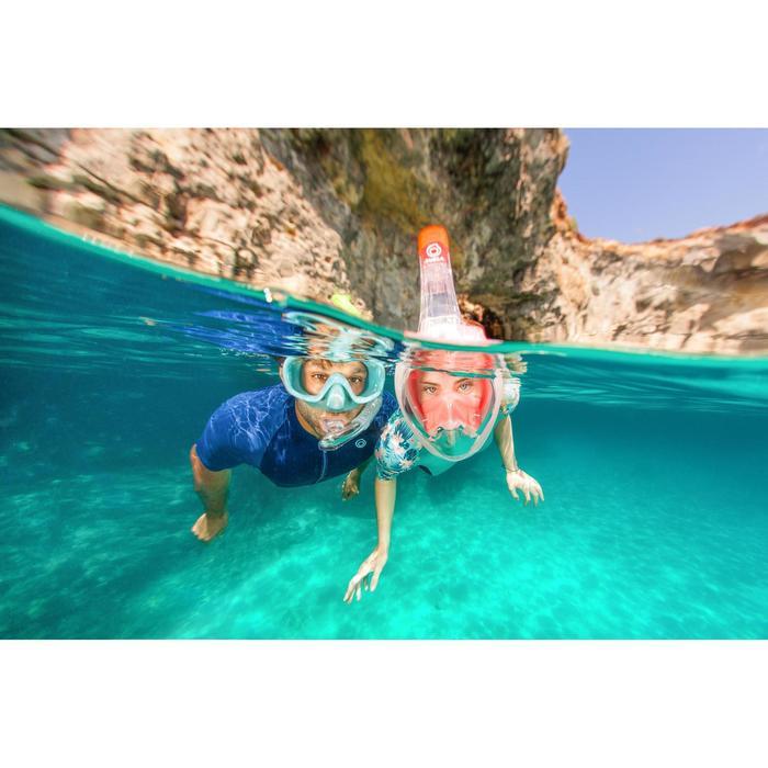Masque de snorkeling en surface Easybreath 500 corail rose