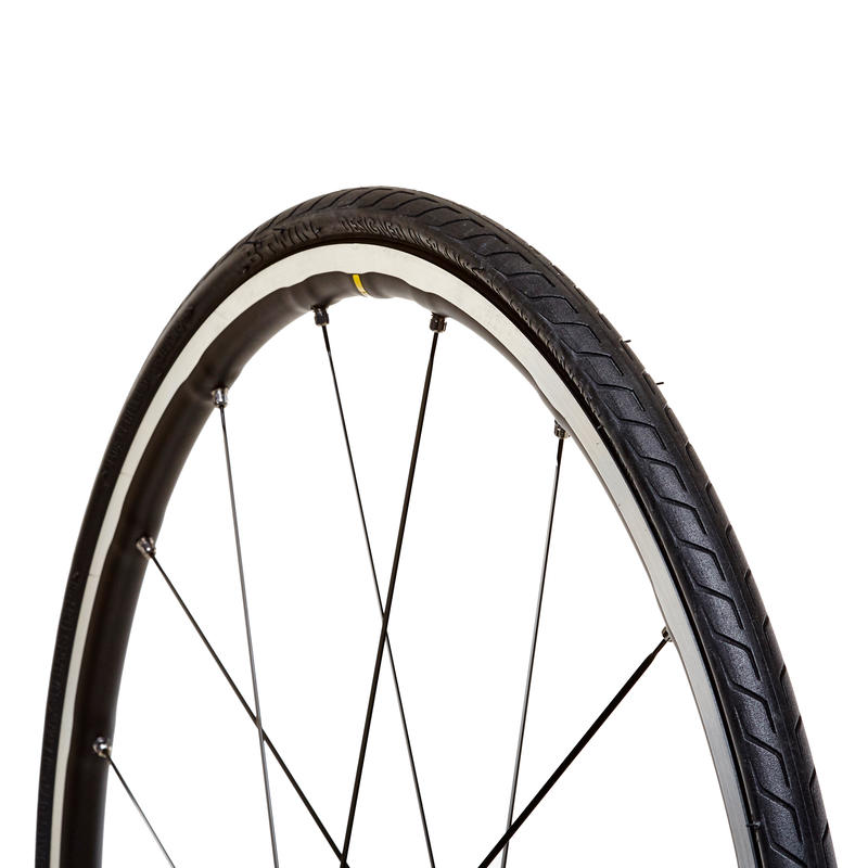 Pneu de vélo de route Triban Protect 700 x 25 tringles rigides