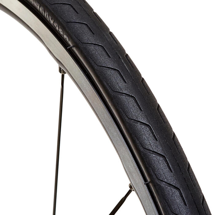 700 x 28軟邊防護型輕量公路車胎Triban ETRTO 28-622